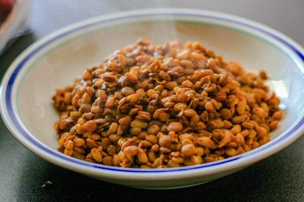 Farro e lenticchie.