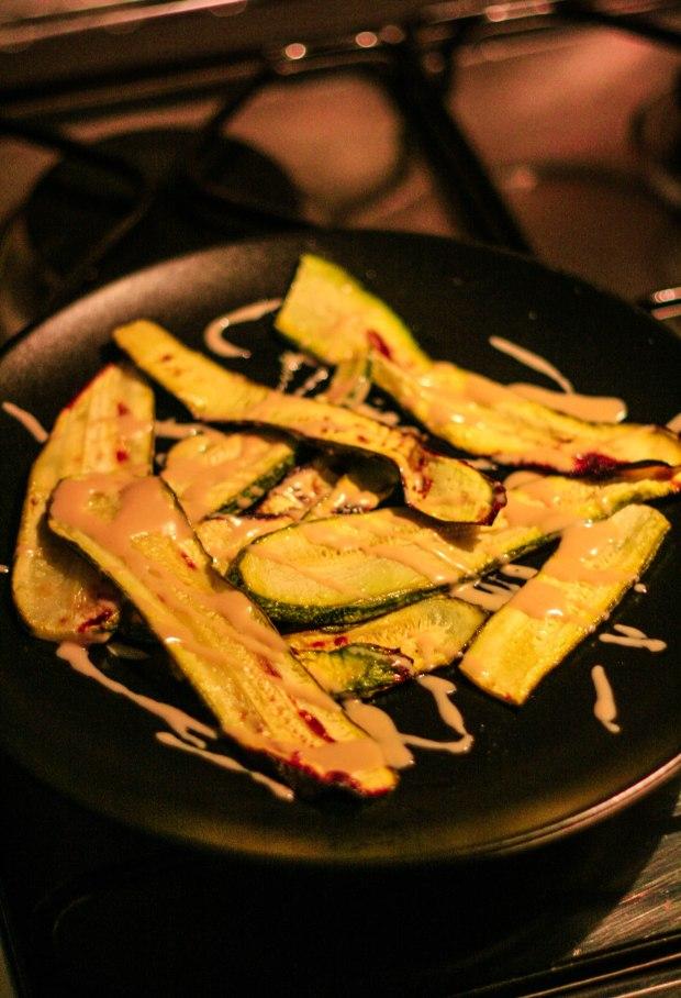 Zucchine al forno e tahina